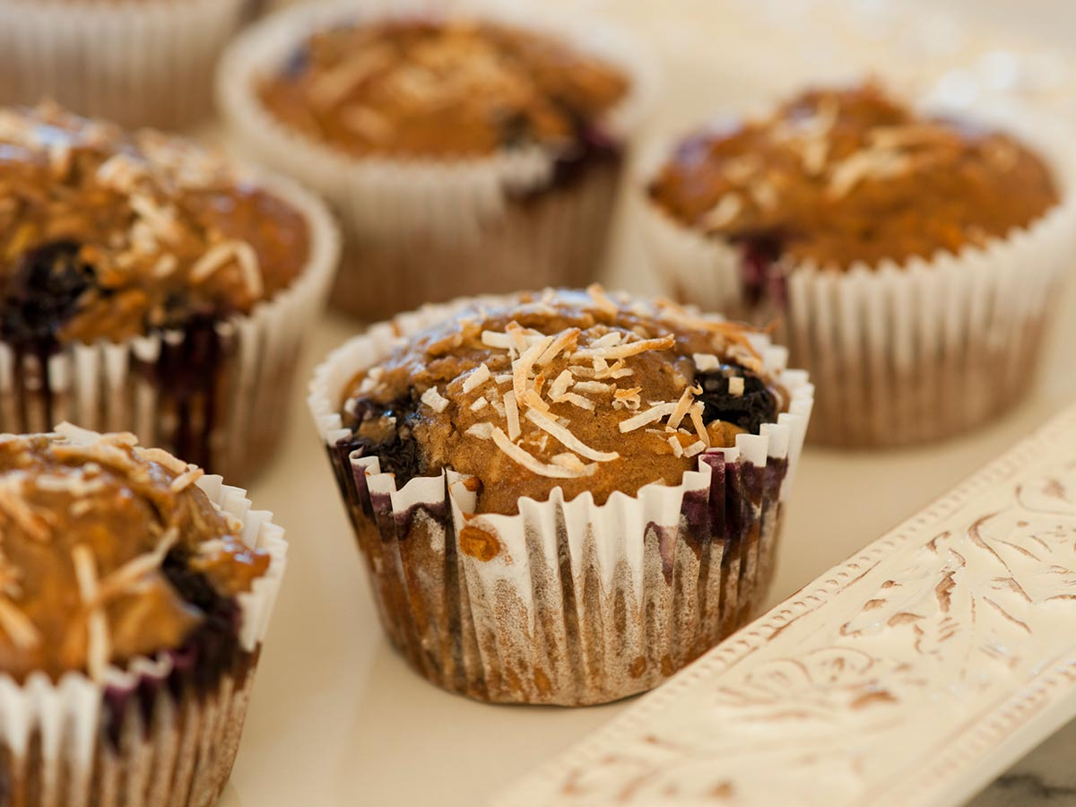 Blueberry and Carob Muffin Recipe - The Australian Carob Co.