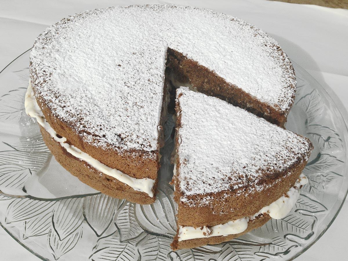 Carob Sponge Cake