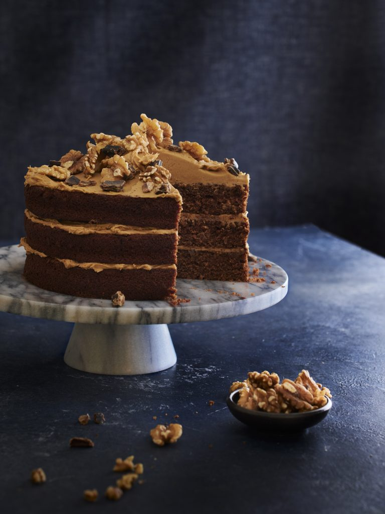 Carob and Coffee Fudge Cake | Australian Carobs