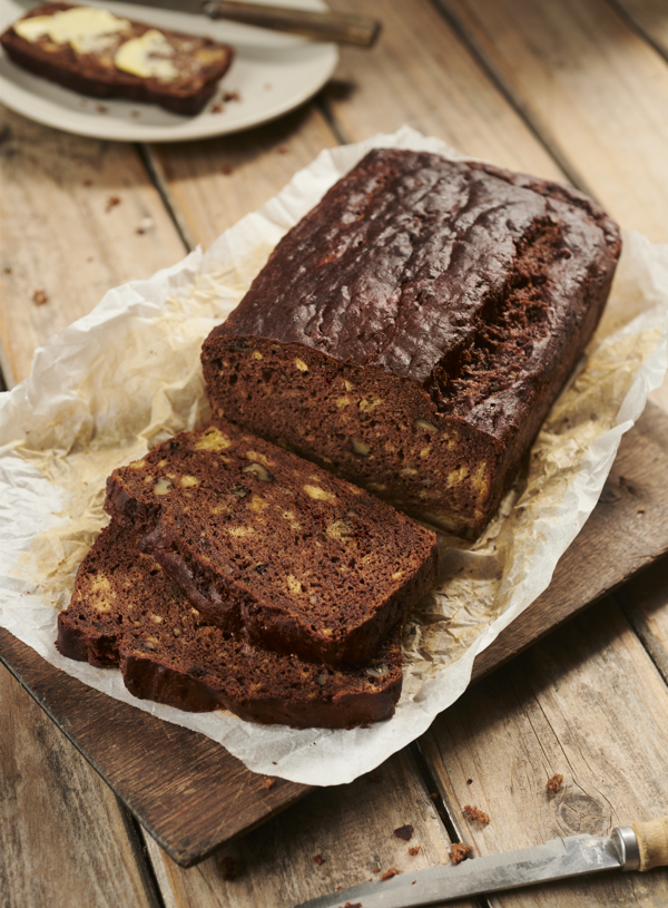 Banana, Walnut and Carob Bread