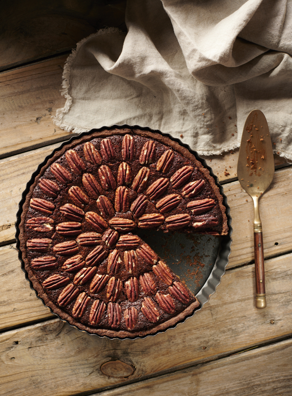 Spiced Carob Pecan Pie