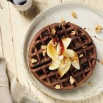 Almond and Carob Waffles with Poached Pears, Best Carob Recipes | Australian Carobs