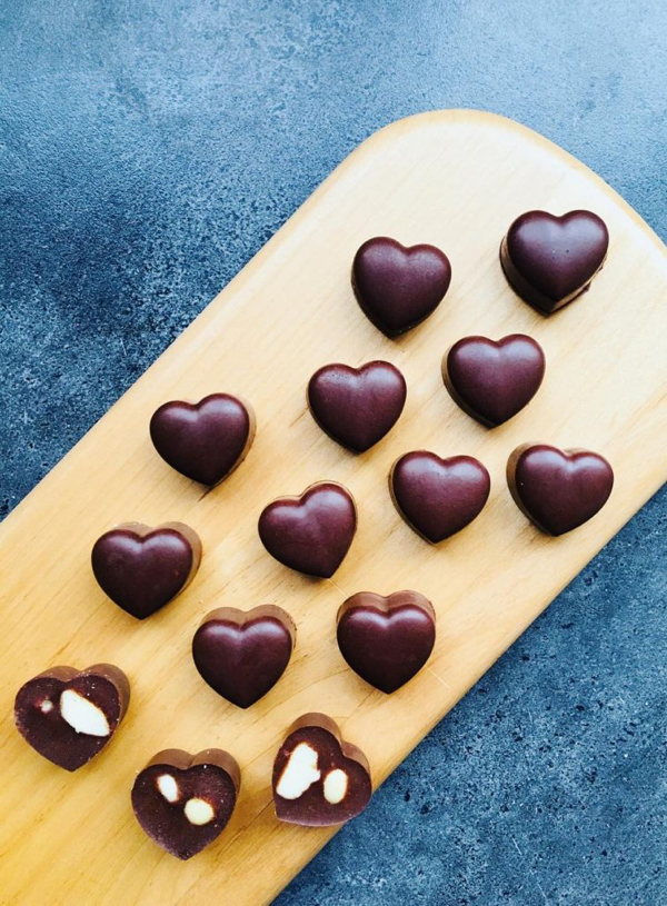 Raw Chocolate and Carob Hearts Recipe