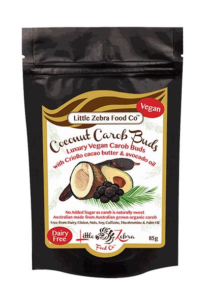 Little Zebra Chocolates, Carob Buds | Australian Carobs