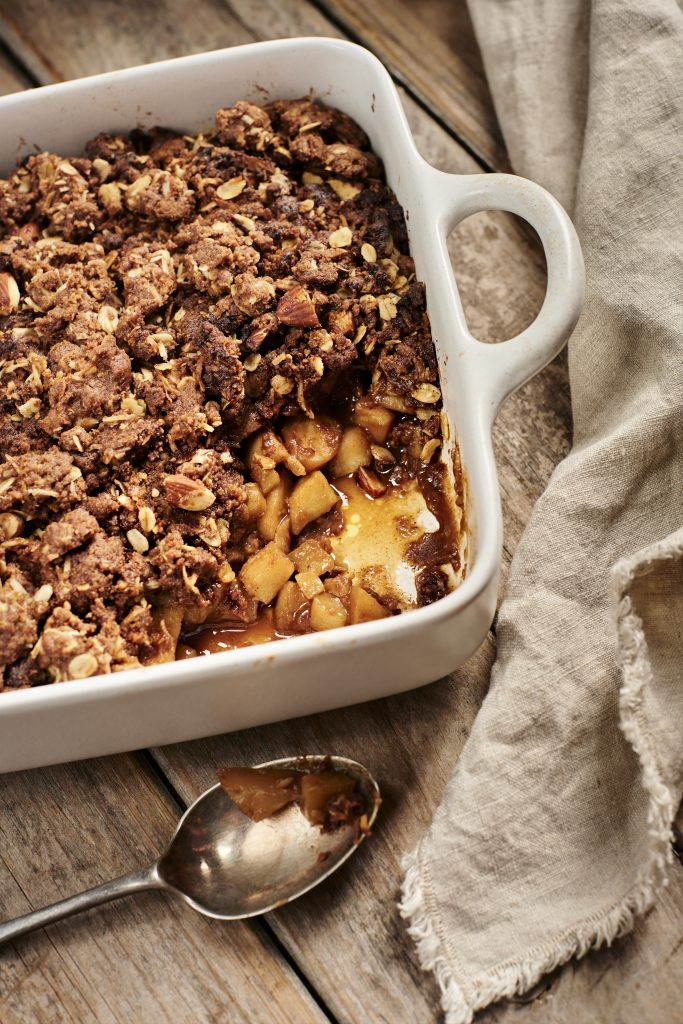 Best Carob Recipes, Spiced Apple and Pear Carob Crumble Recipe | Australian Carobs