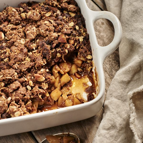 Baked Carob Recipes, Spiced Apple and Pear Carob Crumble Recipe | Australian Carobs