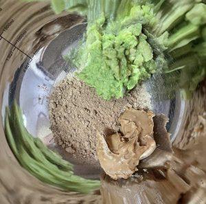 Roasted Carob Powder and Mashed Avocado